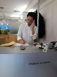 美容室 make a bow